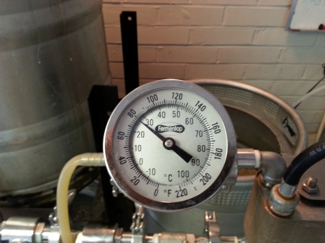 Can't get the wort below 80 deg!
