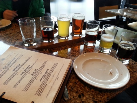 My Beer flight at Moerlein Brewery