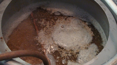 This is the recirculation of the mash heating it up to 170