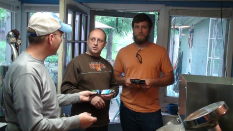 Richard, Michael and Jesse.  Thanks for bringing the wonderful food!