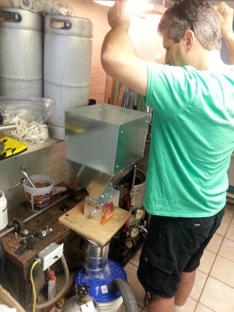John milling the Belgian Whit.