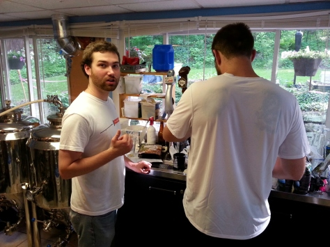Jesse and Jesse performing some fine analytical weighing of hops.