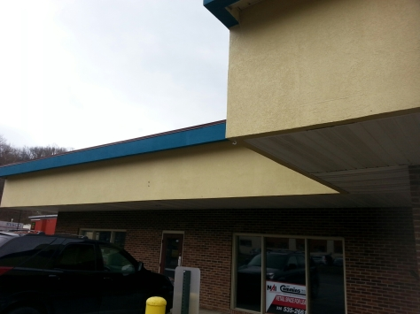 Left side of building
