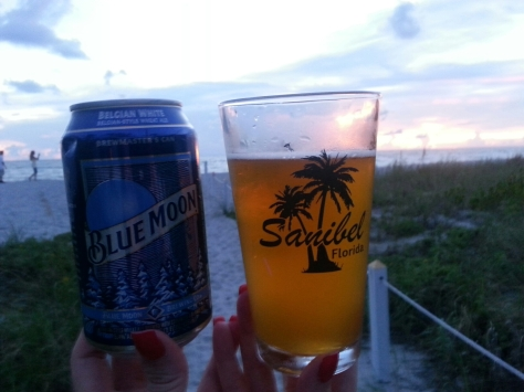 Blue Moon...I have to say, I love this beer (and Shock Tops Belgian) when in Florida...or when it's hot.