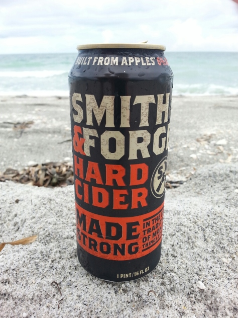 Smith and Forge's hard cider was 'made with apple concentrate'...yes, it tasted like apple juice.