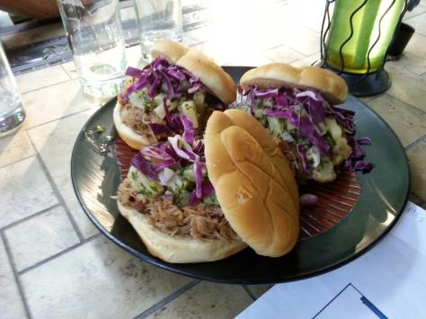 Hawaiian pulled pork sandwiches.