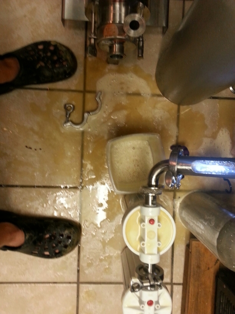 New ways to make messes when filtering beer.