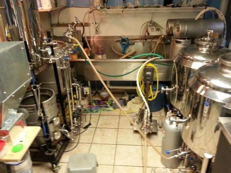 Final pumpout to the fermentors.