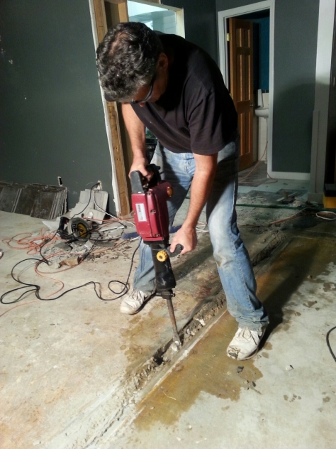 John saves the day with the jackhammer.  That thing has come in handy more than once down here.