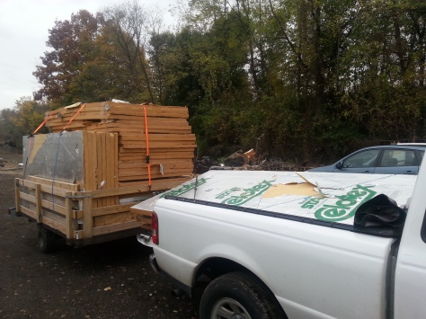"""We drove slow...we did not want 44 pieces of 2"""" thick insulation blowing away."""