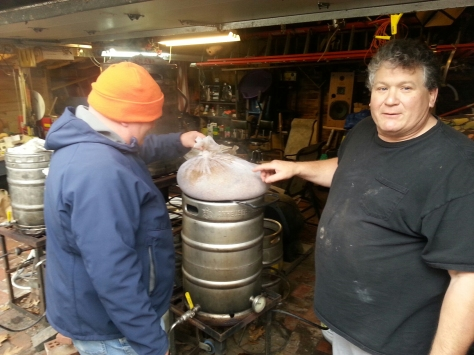 Paul and Larry doing a Hoppy New Year and a Dark Holiday Lager