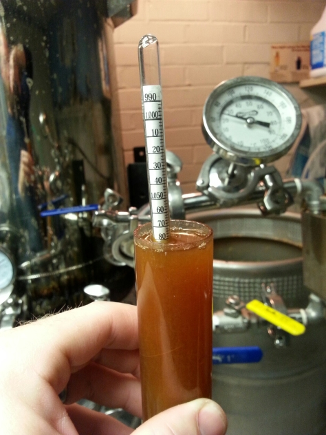 Final gravity is spot-on.  1.080 is a theoretical alcohol level of 10.5% though knowing that I usually ferment out to 1.015-1.020 that will have the final beer around 8%.