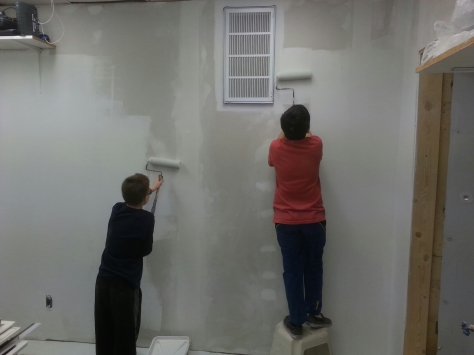 And the painting begins!