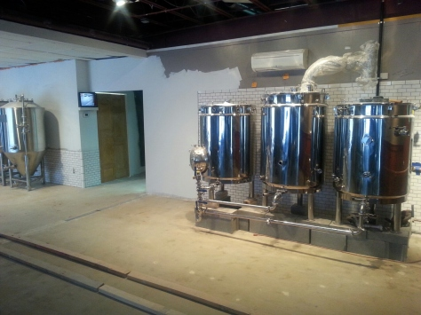 Left Brewing area BEFORE