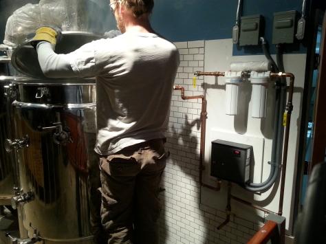 Running hot water tests.
