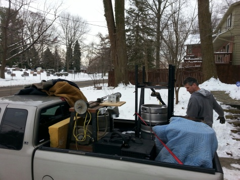 Moving the pilot brewery.