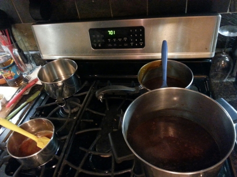 Experimenting more with homemade BBQ sauce and spices like ancho chilis and chipotle.
