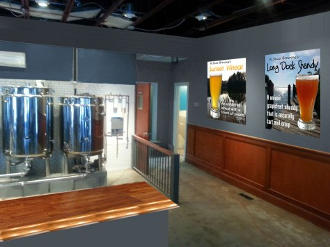 I love the 'art gallery' look and I plan to have my signature beers as the artwork on a few walls.