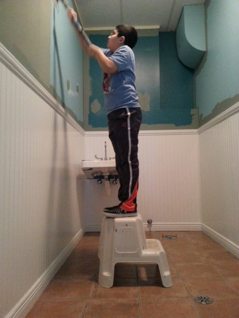 Trevor did a great job painting both bathrooms.