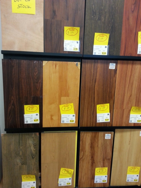 Lot's of engineered wood choices.