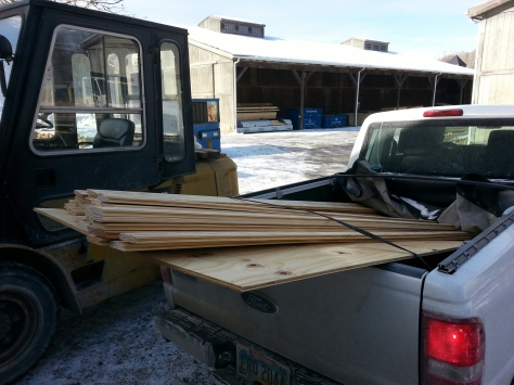 We picked this up at Terry Lumber on one of the coldest days this winter.