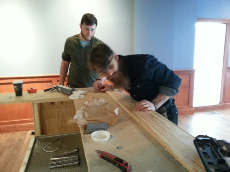 Aaron was very precise in his measurements.  We'll let you critique his joints when you saddle up to the bar for a pint.